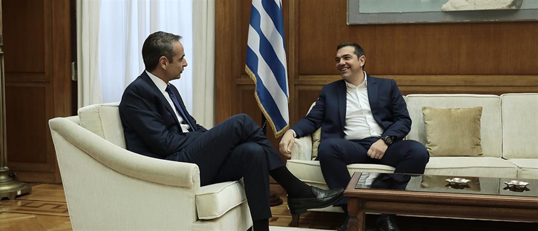 Συναντήσεις Μητσοτάκη με τους πολιτικούς αρχηγούς