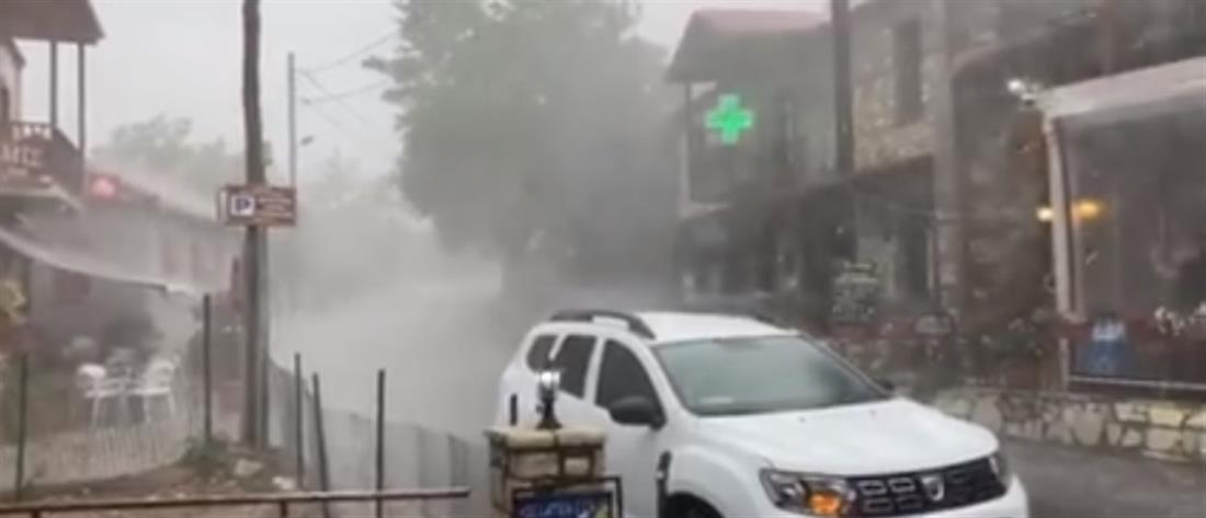 Καταιγίδες στη Θεσσαλία (βίντεο)