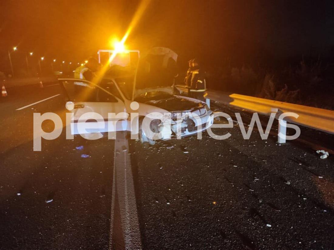 Πιερία - Τροχαίο δυστύχημα