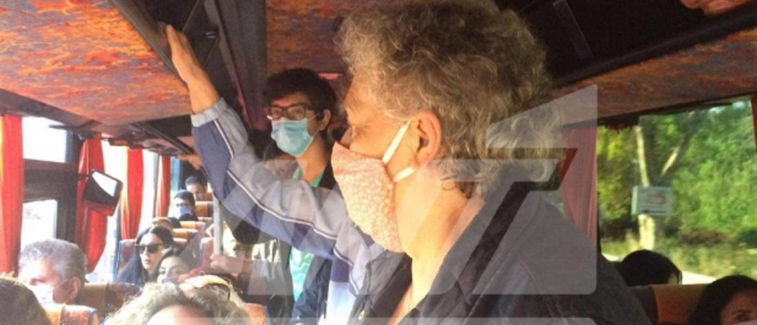 Κορονοϊός - Καταγγελία στον ΑΝΤ1 για λεωφορείο γεμάτο με επιβάτες (εικόνες)