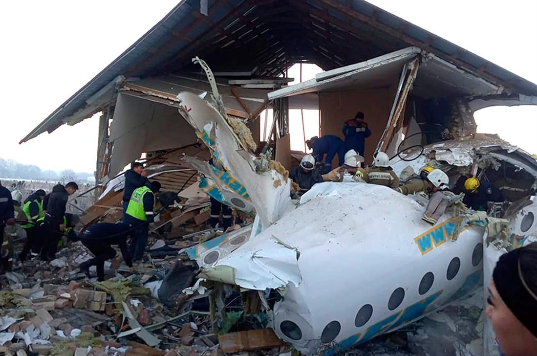 AP - συντριβή αεροπλάνου - Καζακστάν