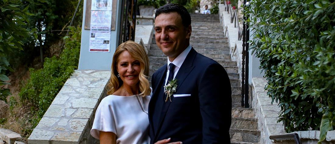 Τζένη Μπαλατσινού – Βασίλης Κικίλιας: ο λαμπερός γάμος και οι καλεσμένοι (εικόνες)