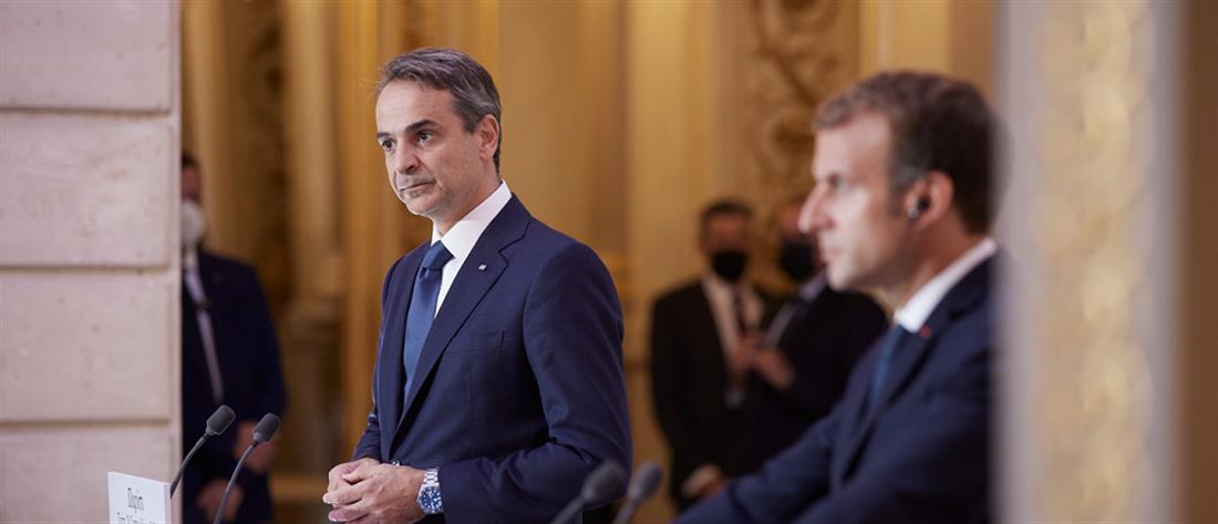 Μητσοτάκης - Μακρόν για την αμυντική συμφωνία Ελλάδας - Γαλλίας (βίντεο)