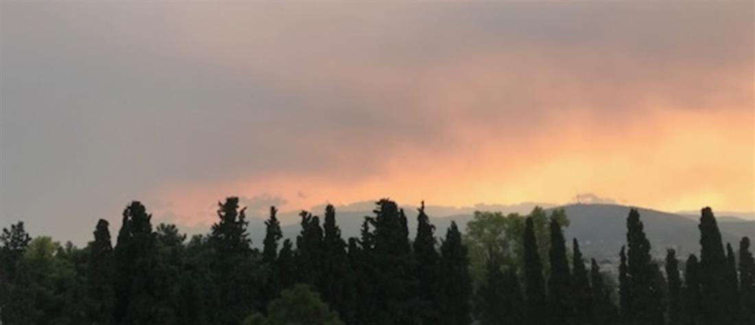 """""""Πνίγεται"""" η Αττική από τον καπνό (εικόνες)"""