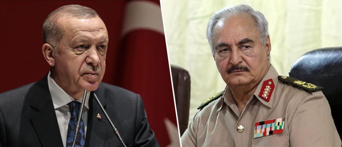 Ερντογάν: θα δώσω ένα μάθημα στον πραξικοπηματία Χαφτάρ