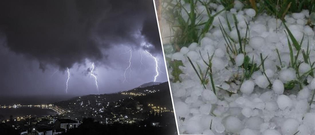 Έκτακτο δελτίο ΕΜΥ: Ισχυρές καταιγίδες και χαλάζι