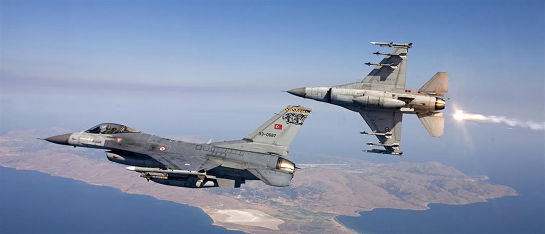 Τουρκικά F-16 πραγματοποίησαν υπερπτήσεις πάνω από τη Ρω