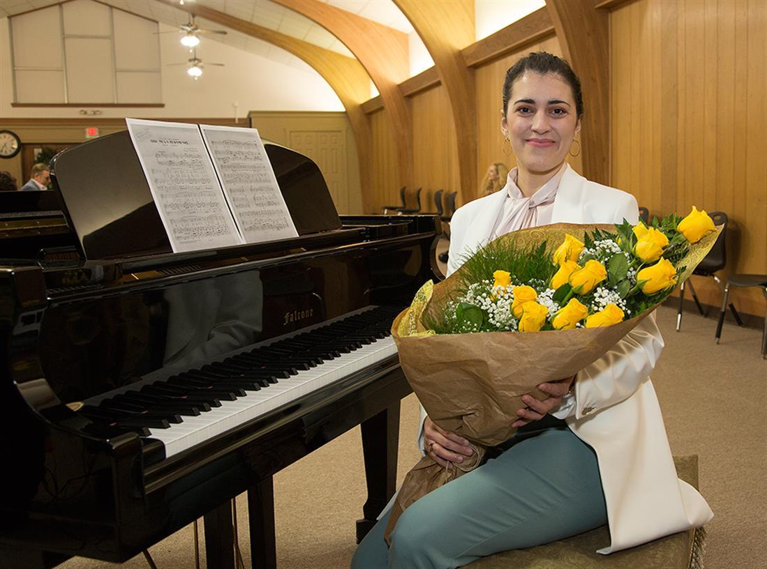 ΗΠΑ - Τέξας - Ελληνίδα - μαέστρος - Συμφωνική Ορχήστρα του Κονρό - Άννα-Μαρία Γκούνη