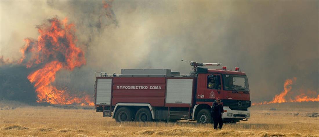 Πολύ υψηλός ο κίνδυνος πυρκαγιάς την Δευτέρα