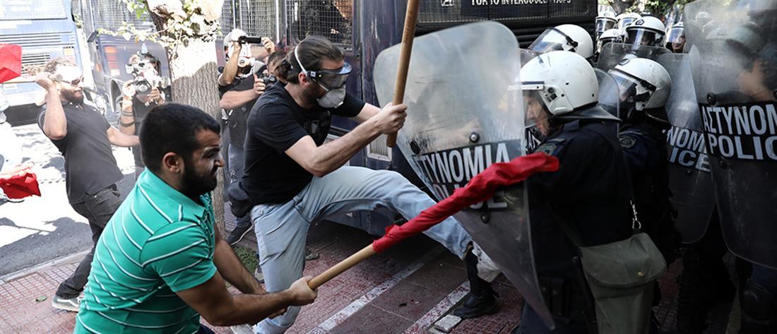 Ένταση και χημικά στην φοιτητική πορεία στην Αθήνα