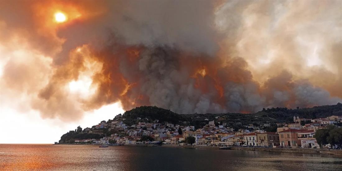 Φωτιά - Λίμνη - Εύβοια