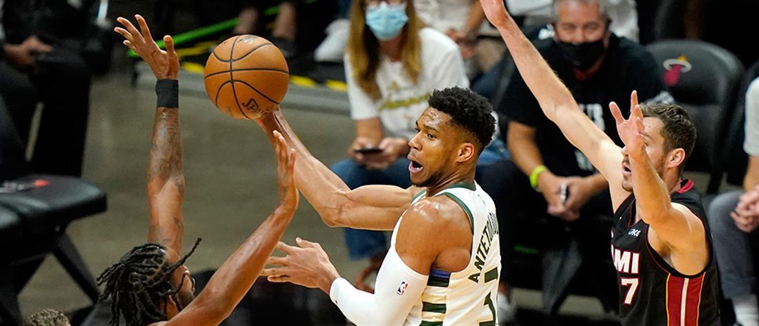 """NBA - Μπακς: Πρόκριση στα ημιτελικά με """"triple double"""" του Αντετοκούνμπο"""