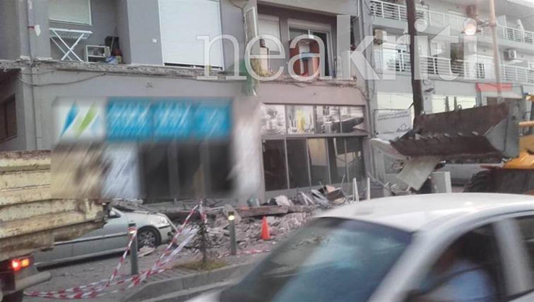 Ρέθυμνο - μπαλκόνι - κατάρρευση
