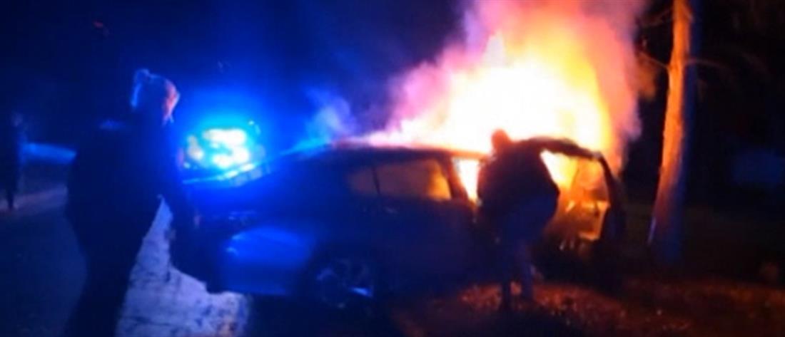 Διάσωση ανθρώπων που καίγονταν ζωντανοί (βίντεο)