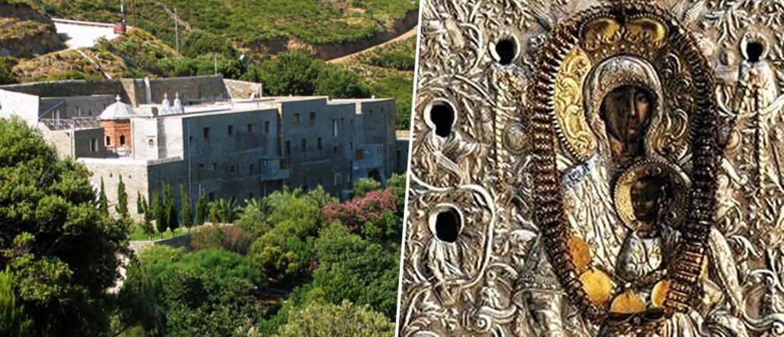 Ιερόσυλοι προσπάθησαν να κλέψουν την εικόνα της Παναγίας της Μυροβλήτισσας