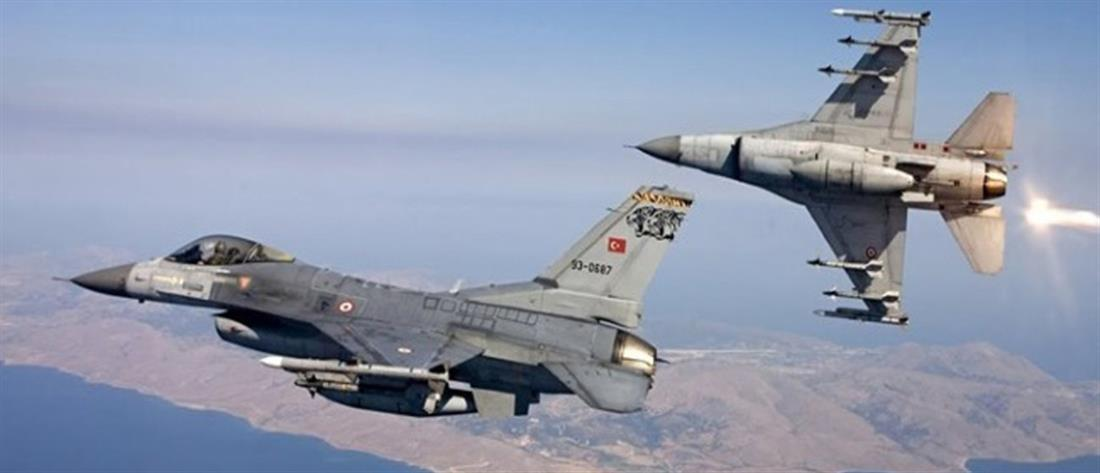Υπερπτήσεις στο Αιγαίο από τουρκικά μαχητικά