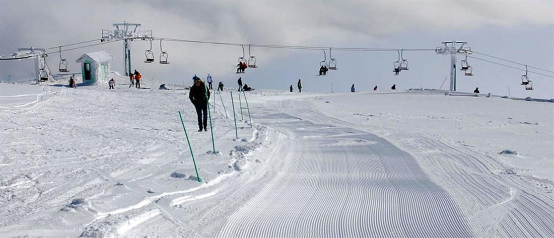 Κλειστό, λόγω χιονοθύελλας, το χιονοδρομικό κέντρο Βόρας-Καϊμάκτσαλαν