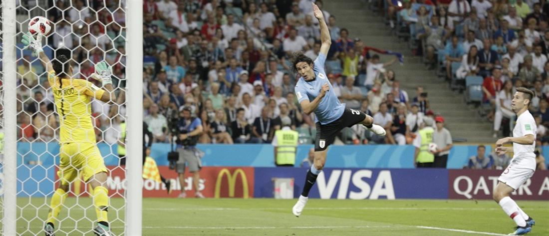 """Με σούπερ Καβάνι, η Ουρουγουάη στους """"8"""" του Παγκοσμίου Κυπέλλου"""
