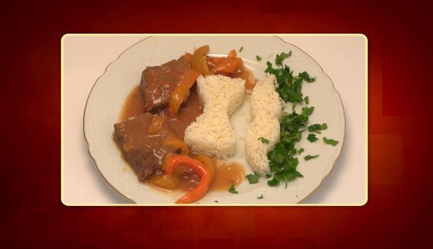 Μοσχάρι κρασάτο με πιπεριές και ρύζι της Διονυσίας - Κυρίως Πιάτο - Επεισόδιο 25