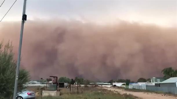 Τρομακτική αμμοθύελλα στην πόλη Μιλντούρα της Αυστραλίας