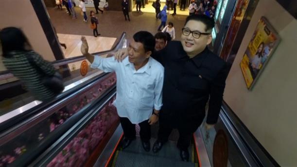 Σωσίες των Κιμ Γιονκ Ουν και Ροντρίγκο Ντουέρτε στο Χονγκ Κονγκ