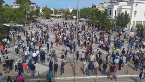 Διαμαρτυρία πολιτών στη Μεσσήνη