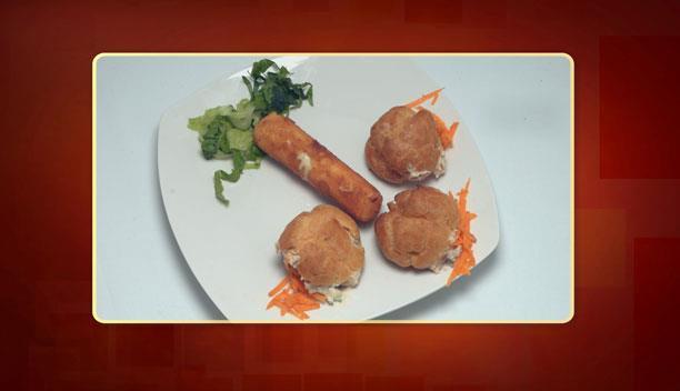 Τυρί γκούντα σε φύλλο με τριμμένη φρυγανιά και σου γεμιστά με τονόσαλατα της Λίτσας - Ορεκτικό - Επεισόδιο 48