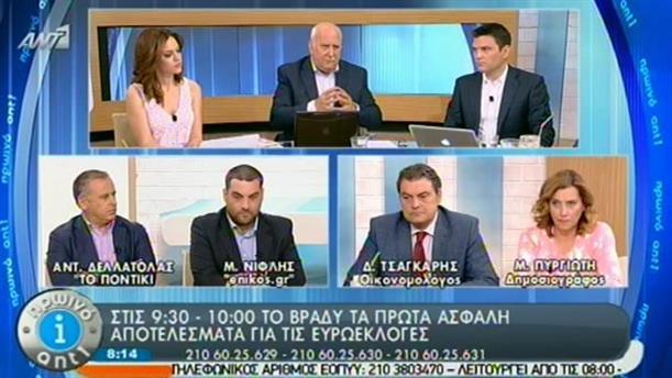 Πρωινό ΑΝΤ1 – Ενημέρωση - 25/05/2014