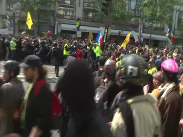 Παρίσι: Άγρια επεισόδια στην πορεία για την Εργατική Πρωτομαγιά