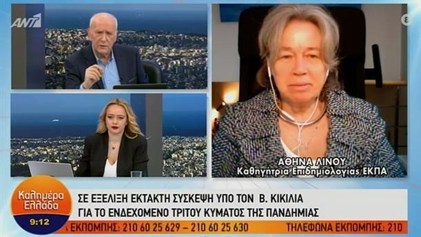 Αθηνά Λινού - καθηγήτρια επιδημιολογίας ΕΚΠΑ – ΚΑΛΗΜΕΡΑ ΕΛΛΑΔΑ - 01/02/2021