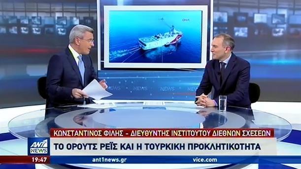 """Φίλης στον ΑΝΤ1: """"πιλοτική"""" η πρόκληση με το Oruc Reis στο Αιγαίο"""
