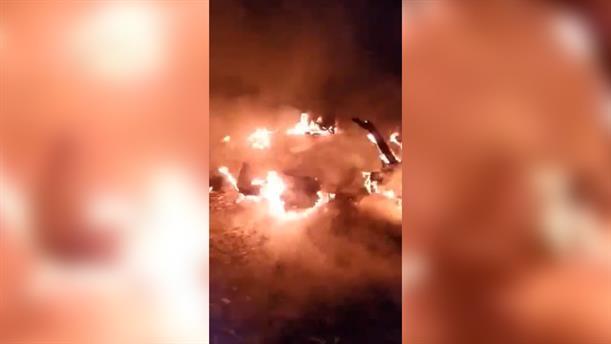 Φωτιά στο hot spot της Λέρου