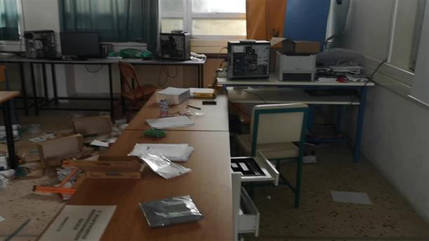 Βίντεο απο τις καταστροφές σε σχολείο στα Ν. Μουδανιά