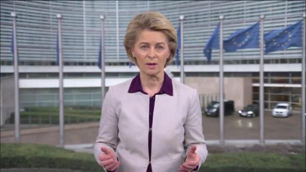 Μήνυμα της φον ντερ Λάιεν για τους ελέγχους στα σύνορα και για τις κοινές προμήθειες προστατευτικού εξοπλισμού