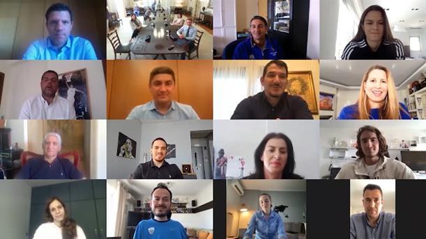 Τηλεδιάσκεψη Κυριάκου Μητσοτάκη με αθλητές