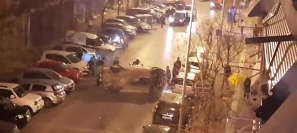 Ανατροπή αυτοκινήτου στην Θεσσαλονίκη