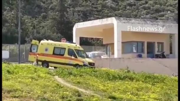25χρονος μεταφέρεται στο νοσοκομείο των Χανίων με συμπτώματα κορωνοϊού