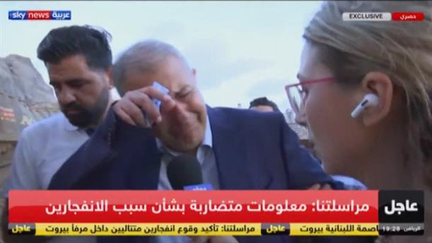 Ξέσπασε σε κλάματα ο κυβερνήτης της Βηρυτού για την φονική έκρηξη
