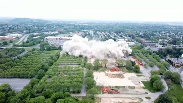 Ελεγχόμενη έκρηξη σε κτήριο με γραφεία