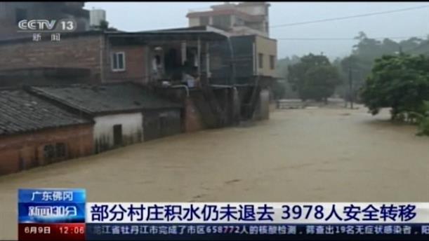 Πλημμύρες από τις βροχές στην Κίνα