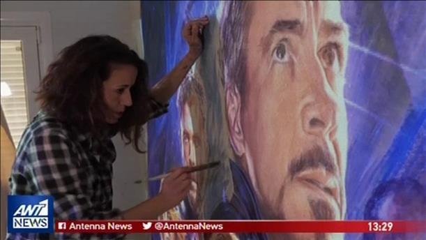 Η Ελληνίδα ζωγράφος, Βιργινία Αξιώτη, μέσα από τον φακό του Reuters