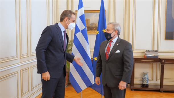 Συνάντηση Κυριάκου Μητσοτάκη με Υπουργό Ενέργειας των ΗΠΑ Dan Brouillette