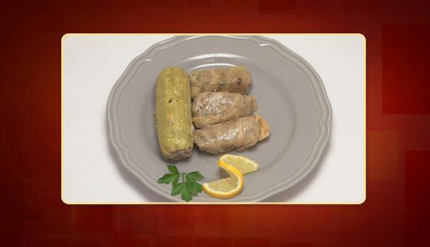 Κολοκυθάκια και λαχανοντολμάδες γεμιστά με κιμά της Βασιλικής - Κυρίως πιάτο - Επεισόδιο 43