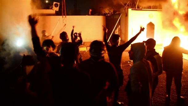 Πυρπόλησαν προξενείο του Ιράν στο Ιράκ