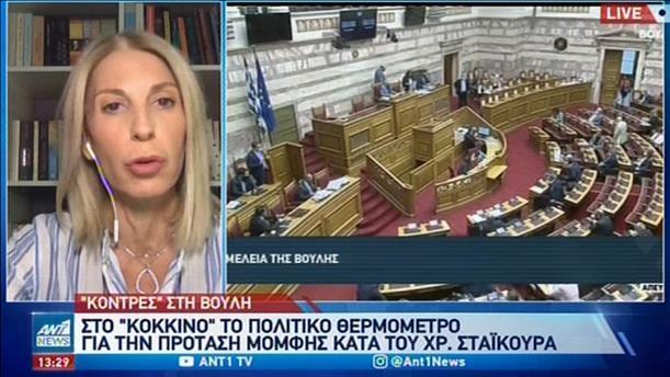 Βουλή: ξεκινάει η συζήτηση για την πρόταση μομφής κατά Σταϊκούρα
