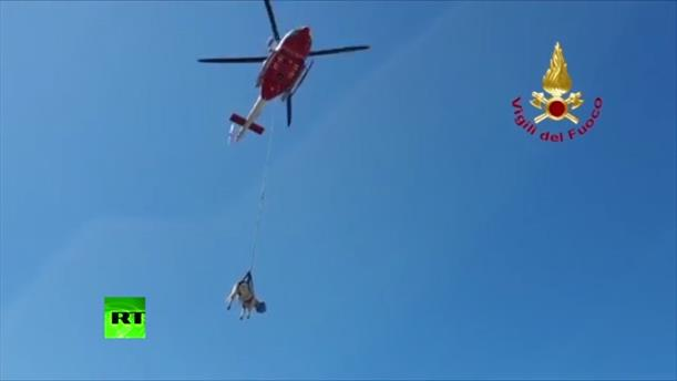 Ελικόπτερο έσωσε αγελάδα