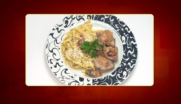 Χοιρινό αλα κρεμ με ταλιατέλες της Βαρβάρας - Κυρίως Πιάτο - Επεισόδιο 21