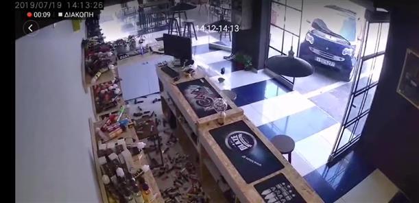 Βίντεο από τον σεισμό σε κατάστημα στο Δάσος Χαϊδαρίου
