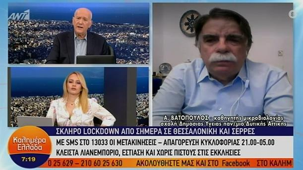 Αλκιβιάδης Βατόπουλος - καθηγητής μικροβιολογίας – ΚΑΛΗΜΕΡΑ ΕΛΛΑΔΑ – 03/11/2020