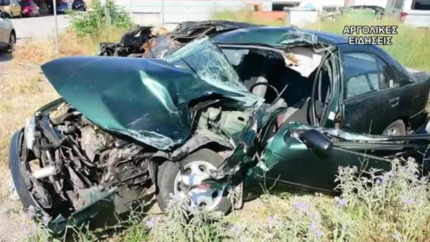 Σφοδρή σύγκρουση αυτοκινήτου με φορτηγό στο Άργος